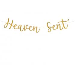 Baner Heaven Sent, złoty, 14,5x85cm