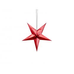 Gwiazda papierowa, 30cm, czerwony