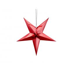 Gwiazda papierowa, 45cm, czerwony