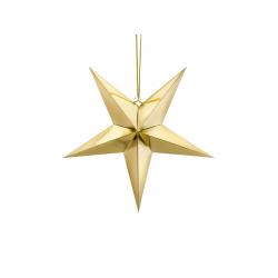 Gwiazda papierowa, 45cm, złoty