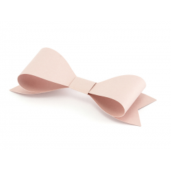 Dekoracje papierowe Kokardki, pudrowy róż (1 op. / 6 szt.)