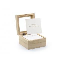 Księga gości - pudełko na porady, 9,5x9,5x6cm, angielska wersja językowa