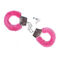 Kajdanki z futerkiem, różowy