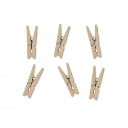 Klamerki drewniane, naturalne drewno (1 op. / 20 szt.)