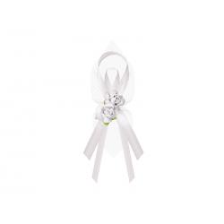 Kotyliony z różyczkami, biały (1 op. / 6 szt.)