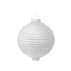 Lampion papierowy, biały, 30cm