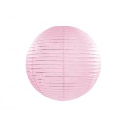 Lampion papierowy, j. różowy, 25cm