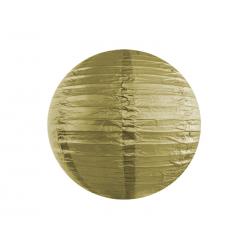 Lampion papierowy, złoty, 35cm