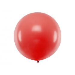 Balon okrągły 1m, Pastel Red
