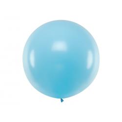Balon okrągły 1m, Pastel Light Blue