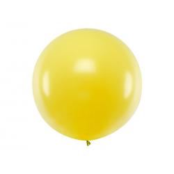 Balon okrągły 1m, Pastel Yellow