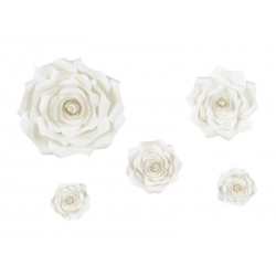 Papierowe kwiaty, jasny kremowy, mix