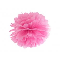 Pompon bibułowy, różowy, 25cm