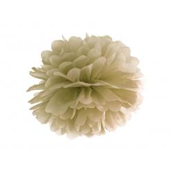 Pompon bibułowy, złoty, 25cm