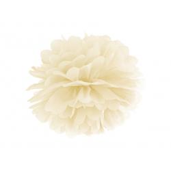 Pompon bibułowy, kremowy, 25cm