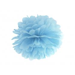 Pompon bibułowy, j. mgl. nieb., 25cm