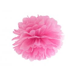 Pompon bibułowy, różowy, 35cm