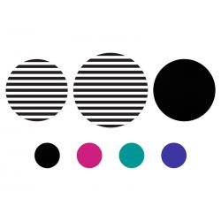 Podkładki papierowe okrągłe, mix (1 op. / 14 szt.)