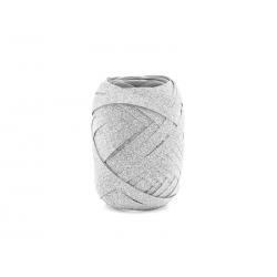Wstążka plastikowa, srebrny, 5mm/10m