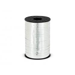 Wstążka plastikowa, srebrny, 5mm/225m