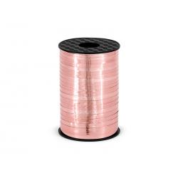 Wstążka plastikowa, różowe złoto, 5mm/225m
