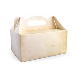 Ozdobne pudełka na ciasto weselne (1 op. / 10 szt.)