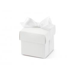 Pudełeczka z kokardką, biały (1 op. / 10 szt.)