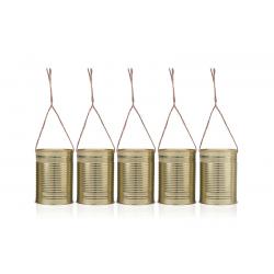 Puszki dekoracyjne, złoty, 10 x 7cm (1 op. / 5 szt.)