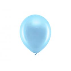 Balony Rainbow 23cm metalizowane, niebieski (1 op. / 100 szt.)