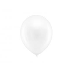 Balony Rainbow 23cm metalizowane, biały (1 op. / 100 szt.)