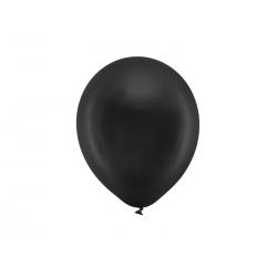 Balony Rainbow 23cm metalizowane, czarny (1 op. / 100 szt.)