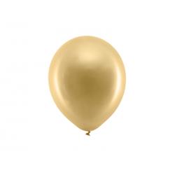 Balony Rainbow 23cm metalizowane, złoty (1 op. / 100 szt.)