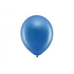 Balony Rainbow 23cm metalizowane, granat (1 op. / 100 szt.)