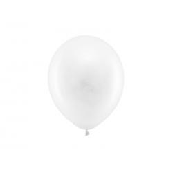 Balony Rainbow 23cm pastelowe, biały (1 op. / 100 szt.)