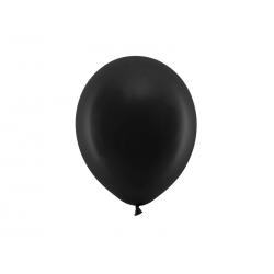 Balony Rainbow 23cm pastelowe, czarny (1 op. / 100 szt.)