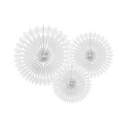 Rozety dekoracyjne, biały, 20-30cm (1 op. / 3 szt.)