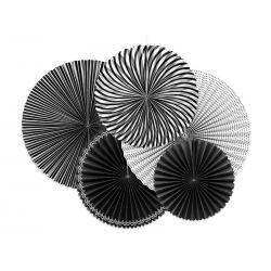 Rozety dekoracyjne Black&White, mix (1 op. / 5 szt.)