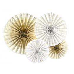 Rozety dekoracyjne, biały (1 op. / 4 szt.)