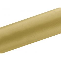 Satyna gładka, złoty, 0,16 x 9m (1 szt. / 9 mb.)