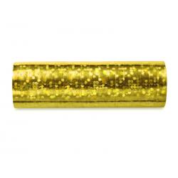 Serpentyny holograficzne, złoty, 3,8m (1 op. / 18 szt.)