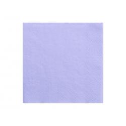 Serwetki trójwarstwowe, liliowy, 33x33cm (1 op. / 20 szt.)