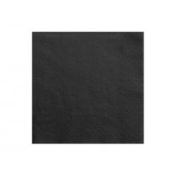 Serwetki trójwarstwowe, czarny, 33x33cm (1 op. / 20 szt.)