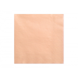 Serwetki trójwarstwowe, łosoś, 33x33cm (1 op. / 20 szt.)