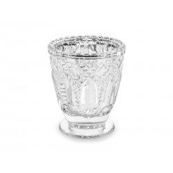 Świecznik, srebrny, 8cm (1 op. / 4 szt.)