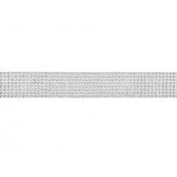 Taśma z cyrkoniami, srebrny, 4x900cm