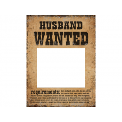 Tabliczki Husband Wanted i Wife Wanted (1 op. / 2 szt.)