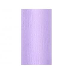 Tiul gładki, liliowy, 0,15 x 9m (1 szt. / 9 mb.)