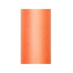 Tiul gładki, pomarańcz, 0,15 x 9m (1 szt. / 9 mb.)