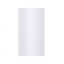 Tiul gładki, biały, 0,15 x 9m