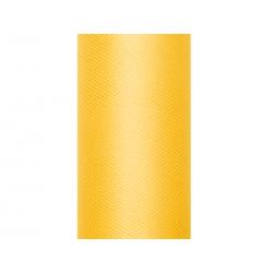 Tiul gładki, żółty, 0,15 x 9m (1 szt. / 9 mb.)